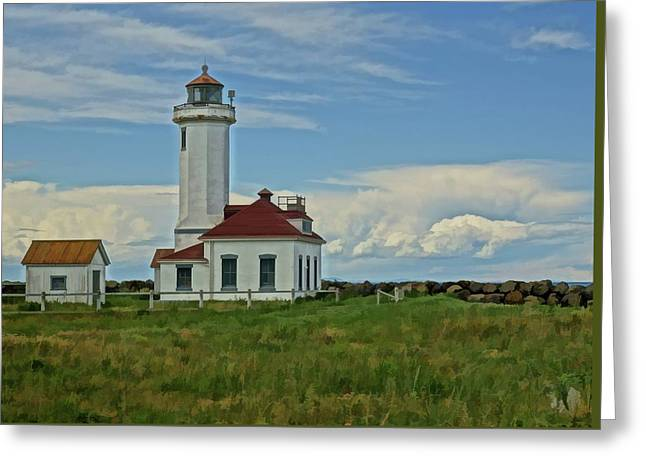 Point Wilson Lighthouse Greeting Card by Dan Sproul