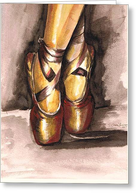 Pointe En Red Greeting Card