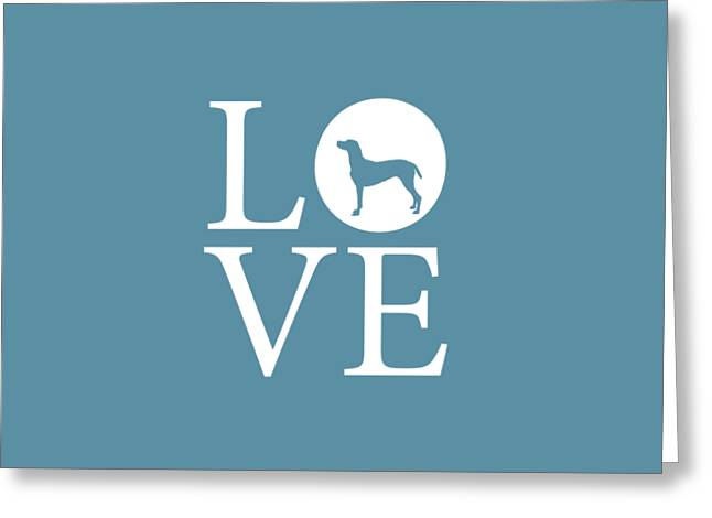 Pointer Love Greeting Card by Nancy Ingersoll
