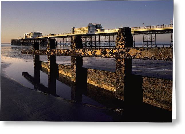 Pointing Out To Sea Greeting Card by Hazy Apple