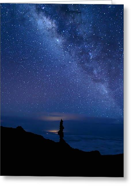 Pointing To The Heavens Greeting Card