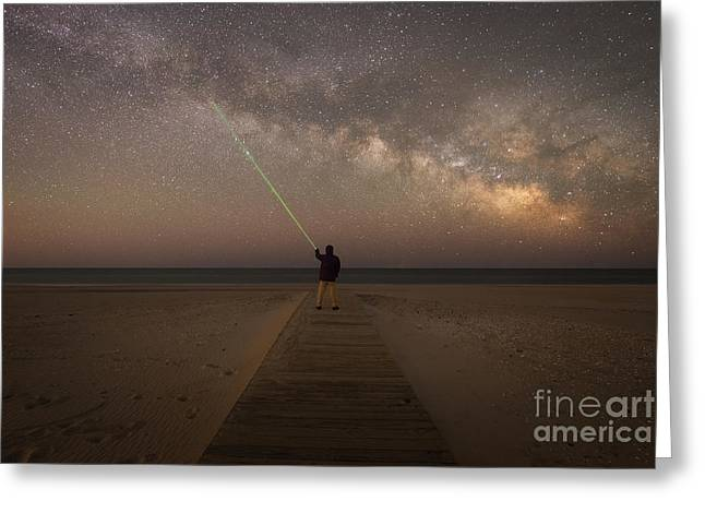 Pointing To The Stars  Greeting Card by Michael Ver Sprill