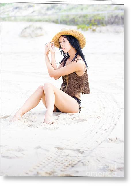 Poised Sand Elegance Greeting Card by Jorgo Photography - Wall Art Gallery