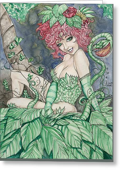Poison Ivy II Greeting Card by Jimmy Adams