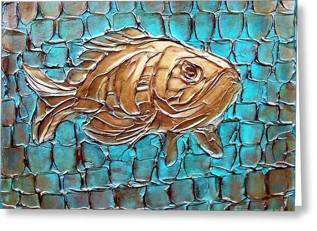 Poisson D'ore Greeting Card