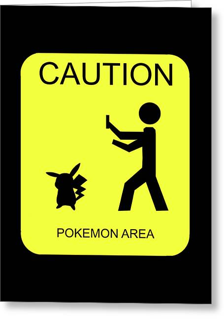 Greeting Card featuring the digital art Pokemon Area by Shane Bechler
