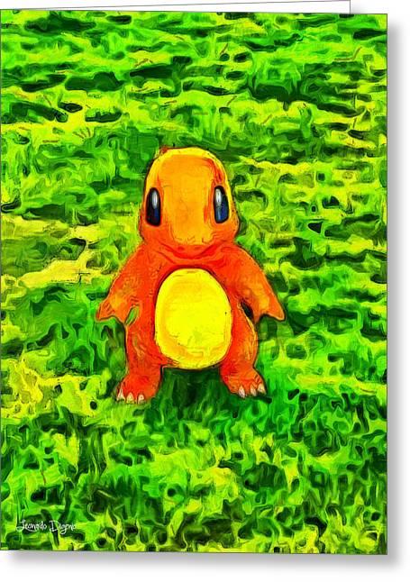 Pokemon Go Charmander - Pa Greeting Card