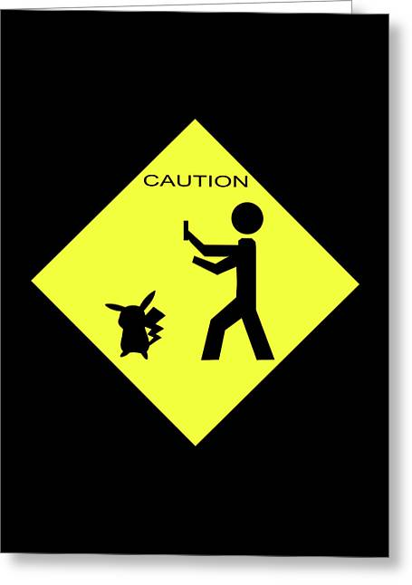 Greeting Card featuring the photograph Pokemon Go by Shane Bechler
