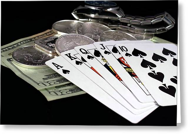 Poker - The Winning Hand Greeting Card