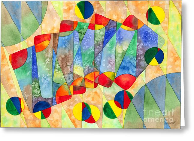 Poker Abstract Watercolor Greeting Card