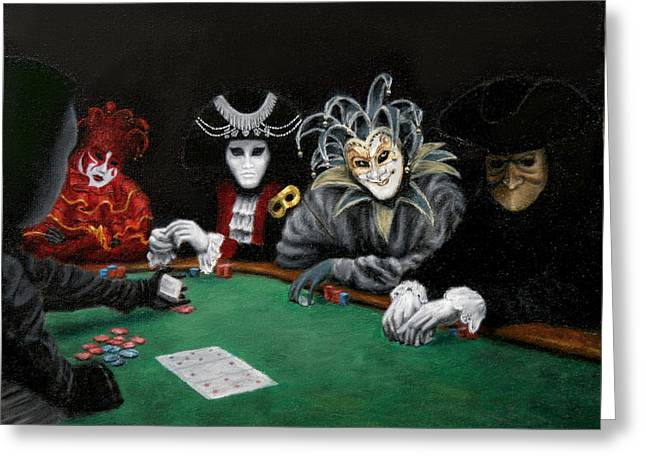 Poker Face Greeting Card