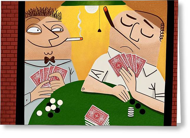 Poker Faces Greeting Card