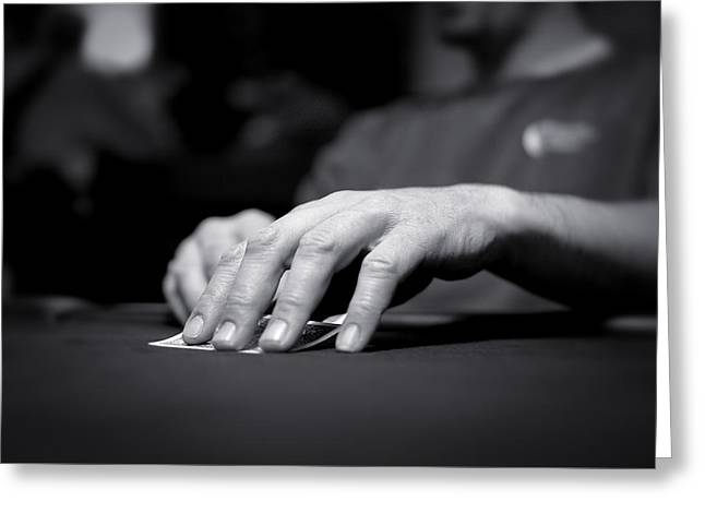 Poker Hand Greeting Card by Todd Klassy