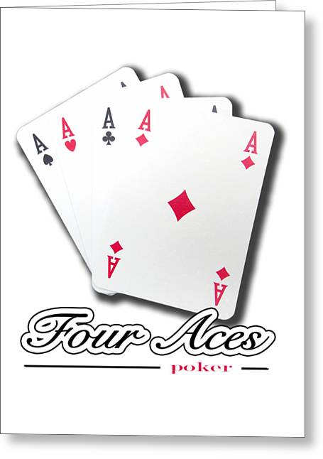Poker Of Aces - Four Aces Greeting Card