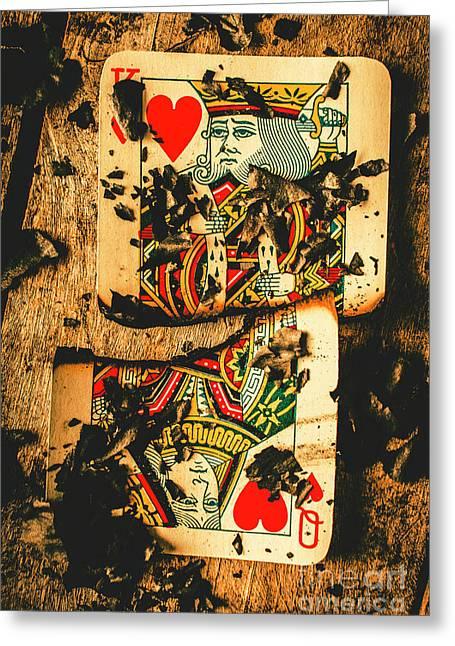 Poker War Revolt Greeting Card