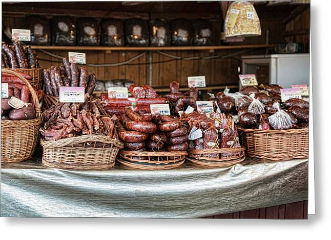 Poland Meat Market Greeting Card