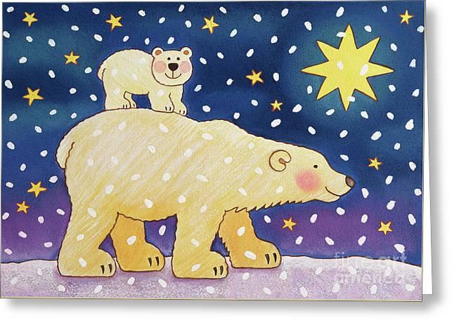 Polar Back Ride Greeting Card by Cathy Baxter