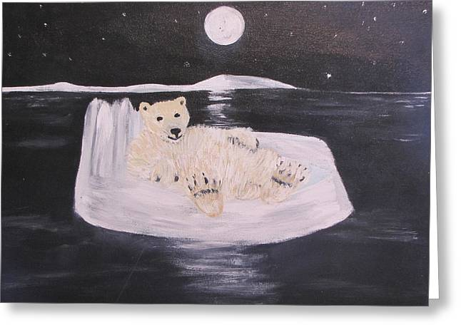 Polar Bear On Ice Greeting Card