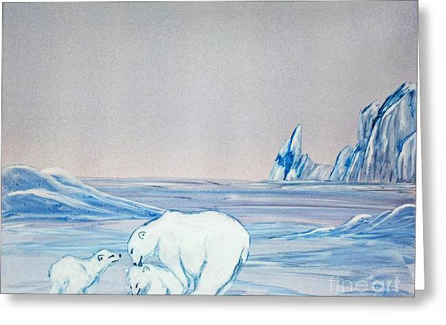 Polar Ice Greeting Card by Terri Mills
