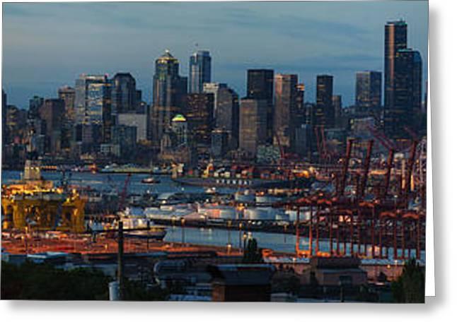 Polar Pioneer Docked In Seattle Greeting Card by Mike Reid