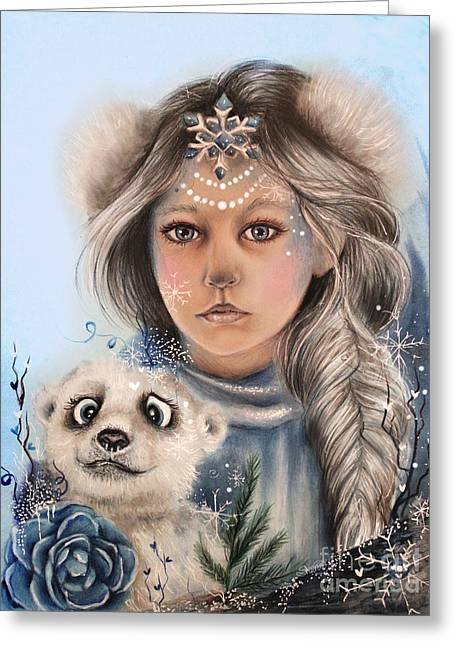 Polar Precious  Greeting Card by Sheena Pike