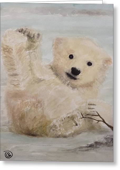 Polar Slide Greeting Card by Annie Poitras