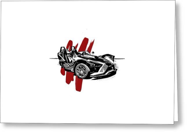 Polaris Slingshot Graphic Greeting Card