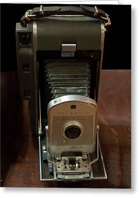Greeting Card featuring the photograph Polaroid Land Camera Model 160 by Chris Flees