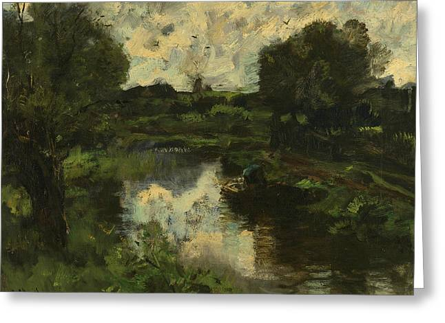 Polder After Storm Greeting Card by Jacob Maris
