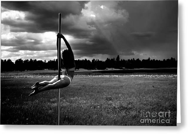 Pole Dance Storm 1 Greeting Card by Scott Sawyer