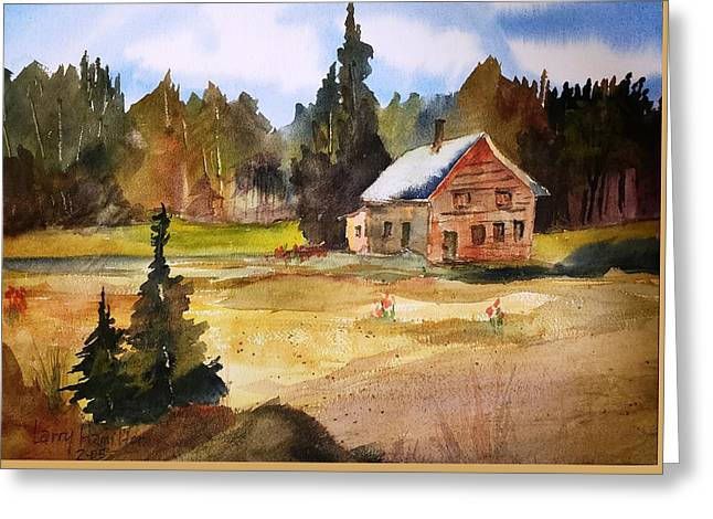 Polebridge Mt Cabin Greeting Card