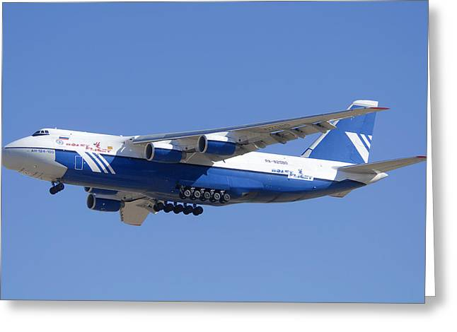 Polet Antonov An-124 Ra-82080 Landing Phoenix-mesa Gateway Airport January 14  Greeting Card by Brian Lockett
