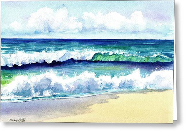 Polhale Waves 3 Greeting Card by Marionette Taboniar