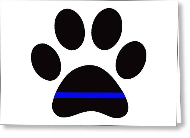 Police Paw Greeting Card by Mark Moore