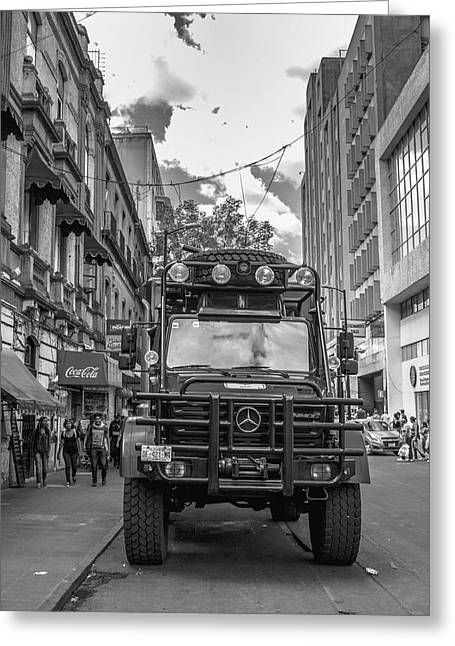 Police Truck - Mexico City Greeting Card by Totto Ponce