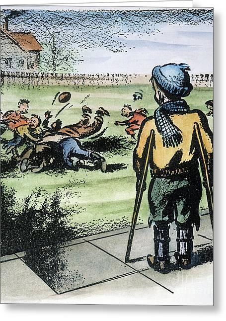 Polio Cartoon, 1957 Greeting Card by Granger