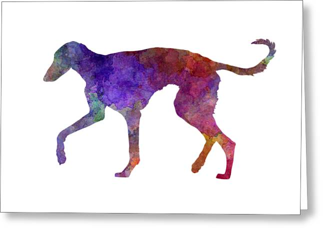 Polish Greyhound In Watercolor Greeting Card