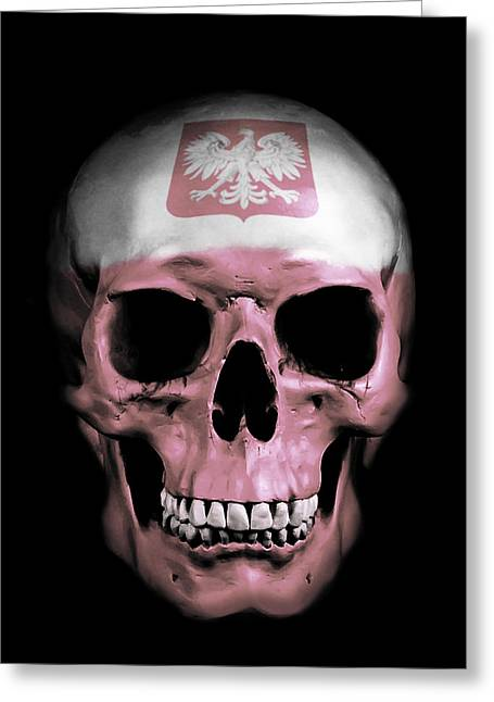 Polish Skull Greeting Card by Nicklas Gustafsson