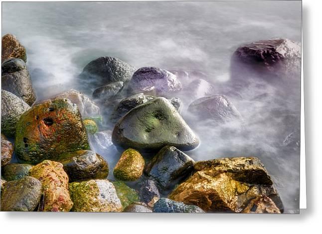 Polished Rocks Greeting Card