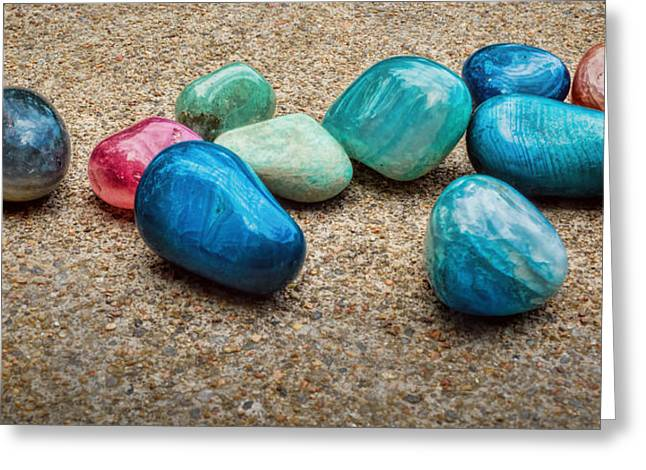 Polished Stones - Photography Greeting Card by Ann Powell