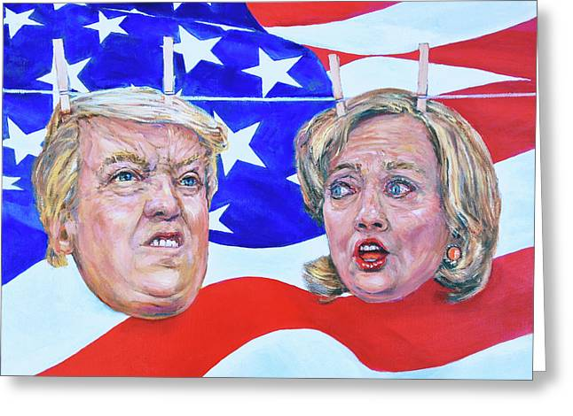 Political Hangups Greeting Card by Steven Boone