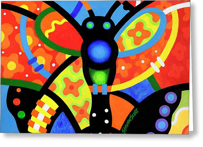 Kaleidoscope Butterfly Greeting Card