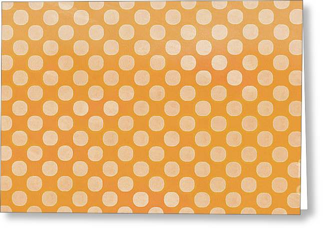 Polka Dots Orange Mug Greeting Card