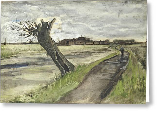 Pollard Willow, 1882 Greeting Card by Vincent Van Gogh