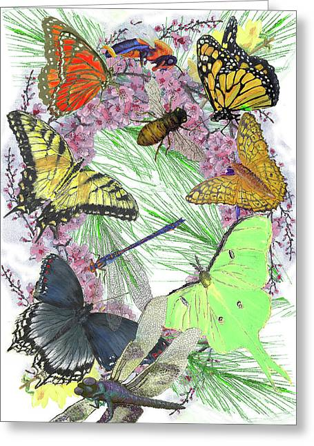 Pollinator Profusion Greeting Card by Forrest C Greenslade PhD