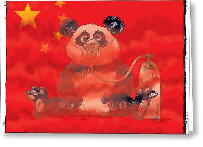 Pollution In China Greeting Card