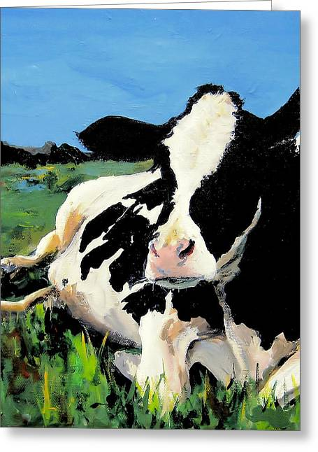 Polly The Cow Greeting Card by Cari Humphry