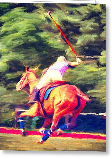 Polo Game 2 Greeting Card