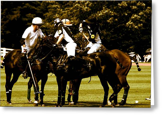 Polo Face Off Greeting Card