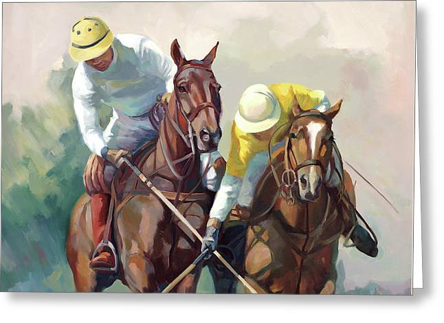Polo Hein Greeting Card by Laurie Hein